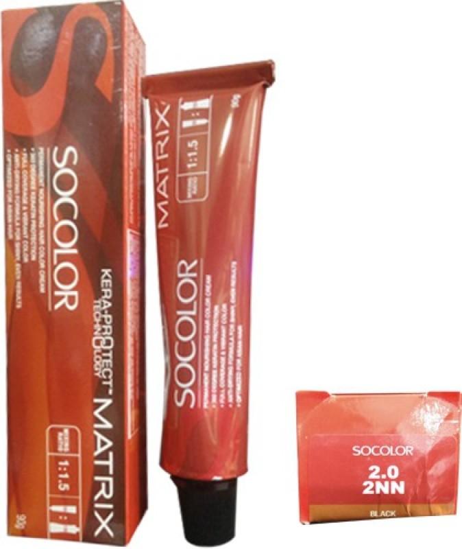 Matrix Socolor Permanent Cream Hair Color20 Black Fabbon