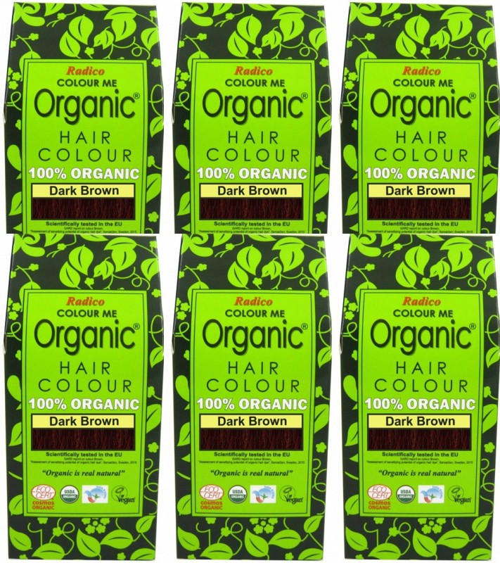 Radico 100 Organic Dark Brown Usda Certified Set Of 6 Hair Color