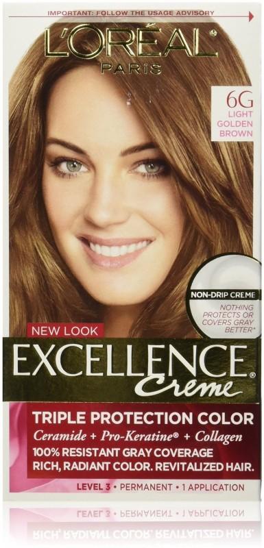 Loreal Paris Excellence Creme 6g Light Golden Brown Hair Color Light Golden Brown
