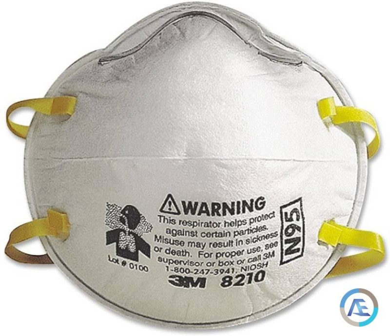 8210 Respirator 5 And N95 Mask Arex Pack Of 3m