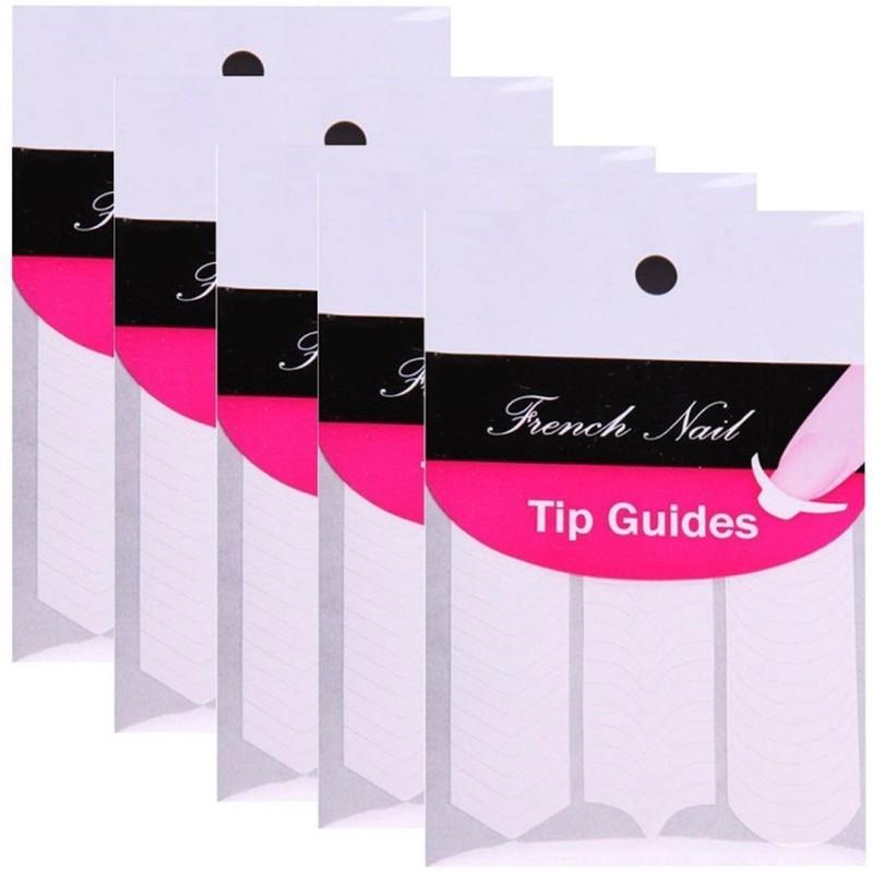 Gugzy Nail Art Designs French, Chevron & Teardrop Nail Tip Guides ...