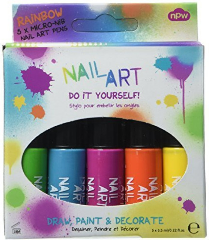 Npw Nail Art Rainbow Set Of Np2959 Dark66 Ml Pack Of 5 Fabbon