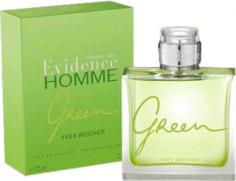 Yves Rocher Evidence Homme Green Eau De Toilette 75 Mlfor Men