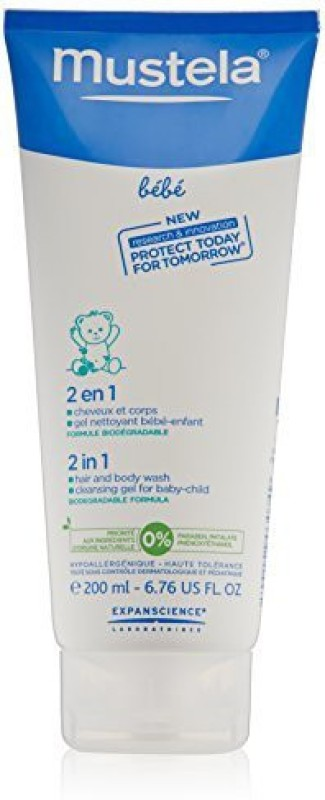 200ml 6.76 Fl. Oz. Mustela Bebe 2 In 1 Hair And Body Wash