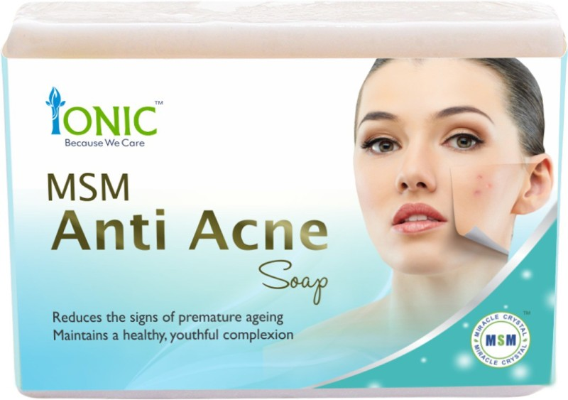 Ionic Anti Acne Face & Pimple Free Essence Soap Bar (Organic Sulfur  Based)(100 g)
