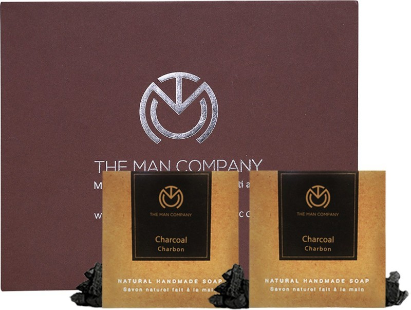 86b05ea99f7 The Man Company Natural Premium Charcoal Soap(250 g, Pack of 2) | Fabbon