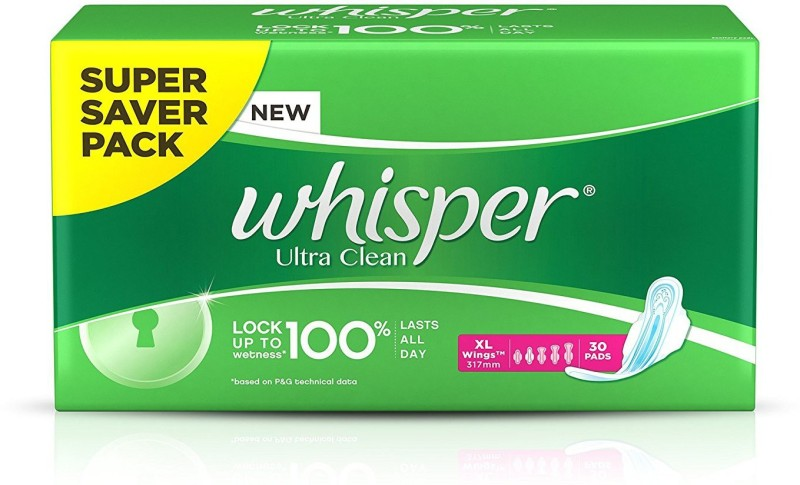 Whisper Ultra Clean - XL Wings Sanitary Pad(Pack of 30) | Fabbon
