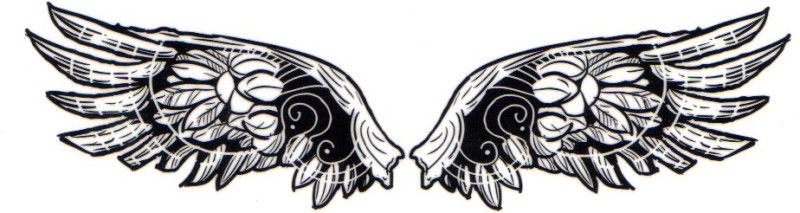 Smilendeal T1700 Removeable Temp Body Tattoo Wings Stylewings