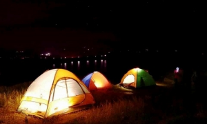 Riverside camping in Muthavli