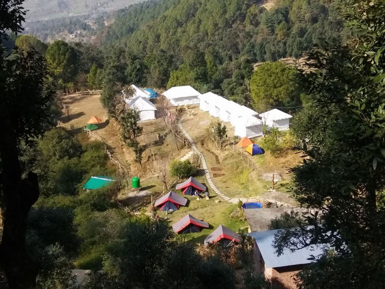Camping in Bir Biling with dome tent stay