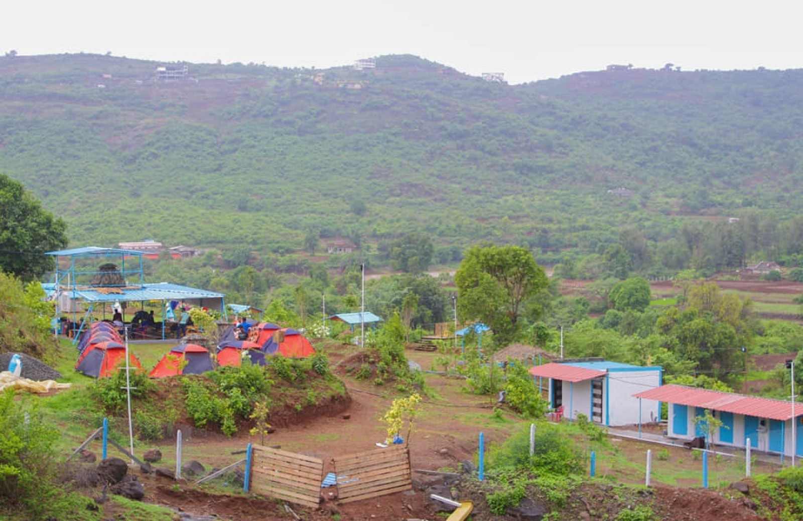 Camping near the Visapur Fort