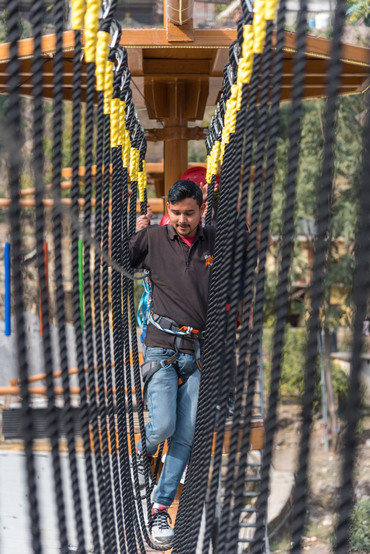 http://www.thegreatnext.com/Reverse Bungee High Low Ropes Course Rishikesh Uttarakhand Thrill Factory Park Adventure Travel The Great Next