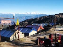 Swiss tent stay in Kanatal, Uttarakhand