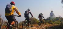 http://m.thegreatnext.com/World Peace Pagoda Shanti Stupa Mountain Cycling Biking Pokhara Nepal Adventure Activity Destination Places Himalayas Travel