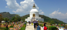 http://www.thegreatnext.com/World Peace Pagoda Shanti Stupa Mountain Cycling Biking Pokhara Nepal Adventure Activity Destination Places Himalayas Travel
