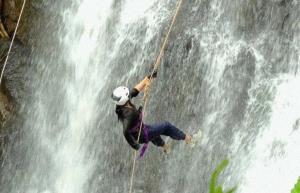 Dodhani waterfall rappelling at Panvel
