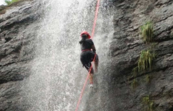 Kondana waterfall rappelling at Karjat