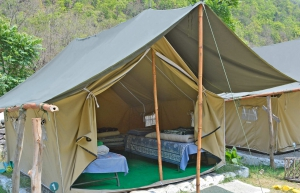 Riverside camping adventure, Rishikesh