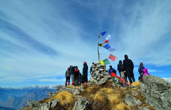 Winter trek to Kuari Pass