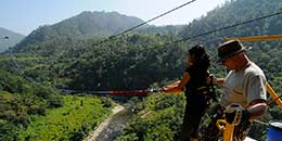 http://www.thegreatnext.com/Rishikesh Bungee Jump Flying Fox Giant Swing Jumpin Heights Adventure Ganges
