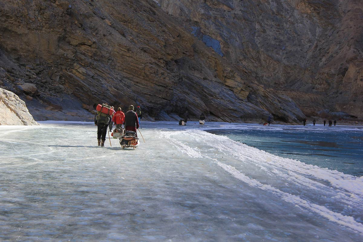 http://www.thegreatnext.com/Himalayan Snow Trek Adventure Trekking Leh Zanskar Chadar Frozen River
