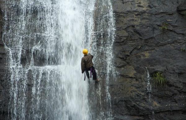 Bekre Waterfall Rappelling