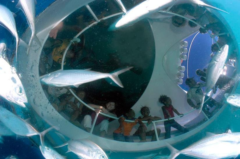 http://www.thegreatnext.com/Glass bottom boat Andamans Port Blair Scuba Diving The Great Next