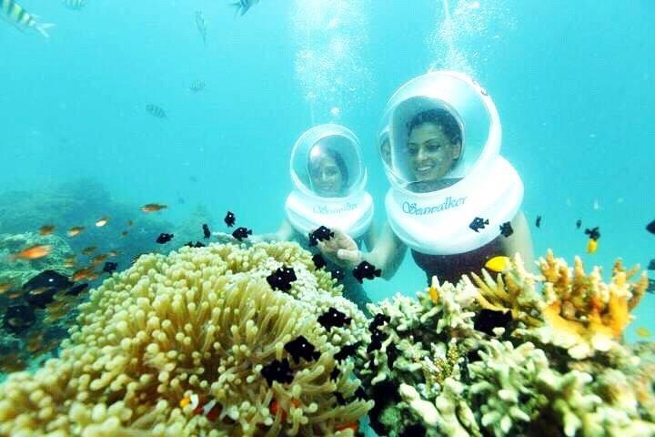 http://www.thegreatnext.com/Sea Walking North Bay Port Blair Havelock Andaman Nicobar Underwater Adventure Activity Travel Marine life