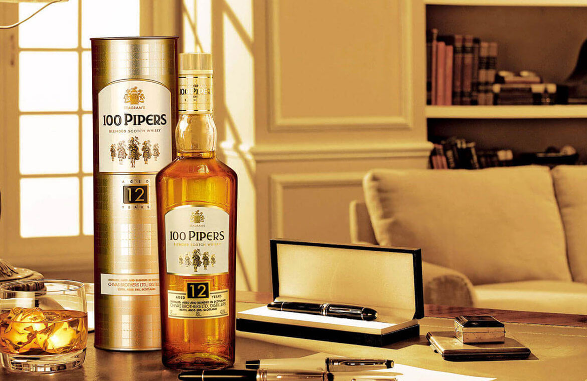 100 Pipers 12 Years Old Whisky