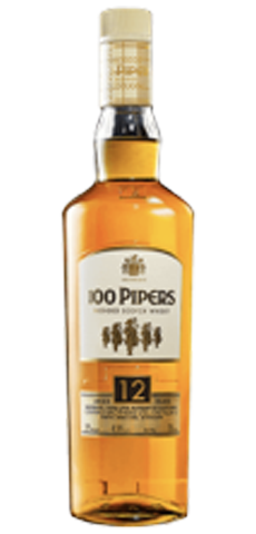 100 Pipers Blended Scotch