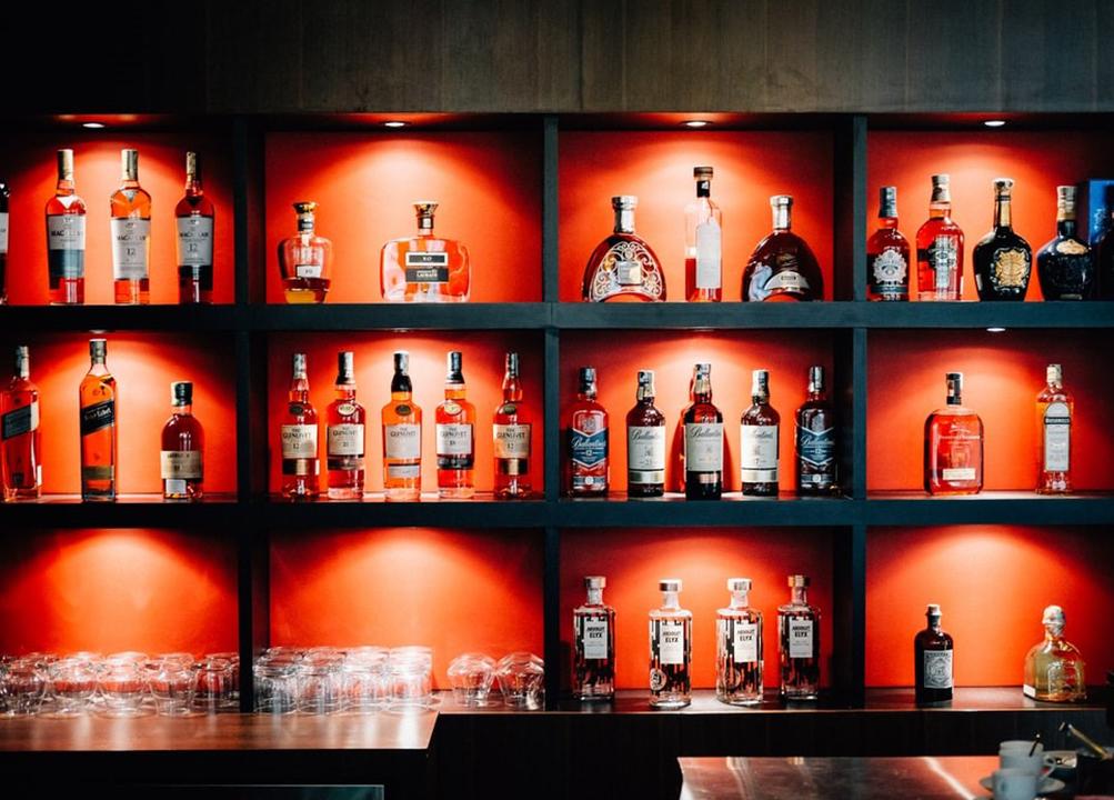 Whisky bar at home
