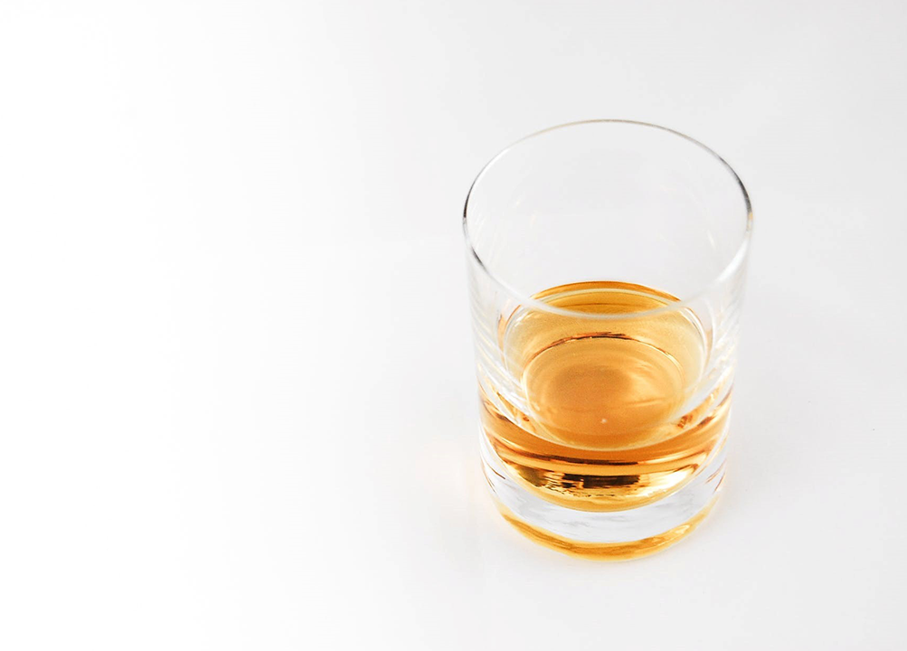 Rock glass for scotch tasting
