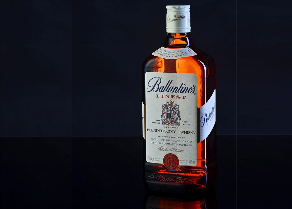 Ballantine's finest scotch whisky brand