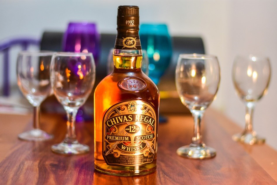 The chivas regal 12 year old scotch