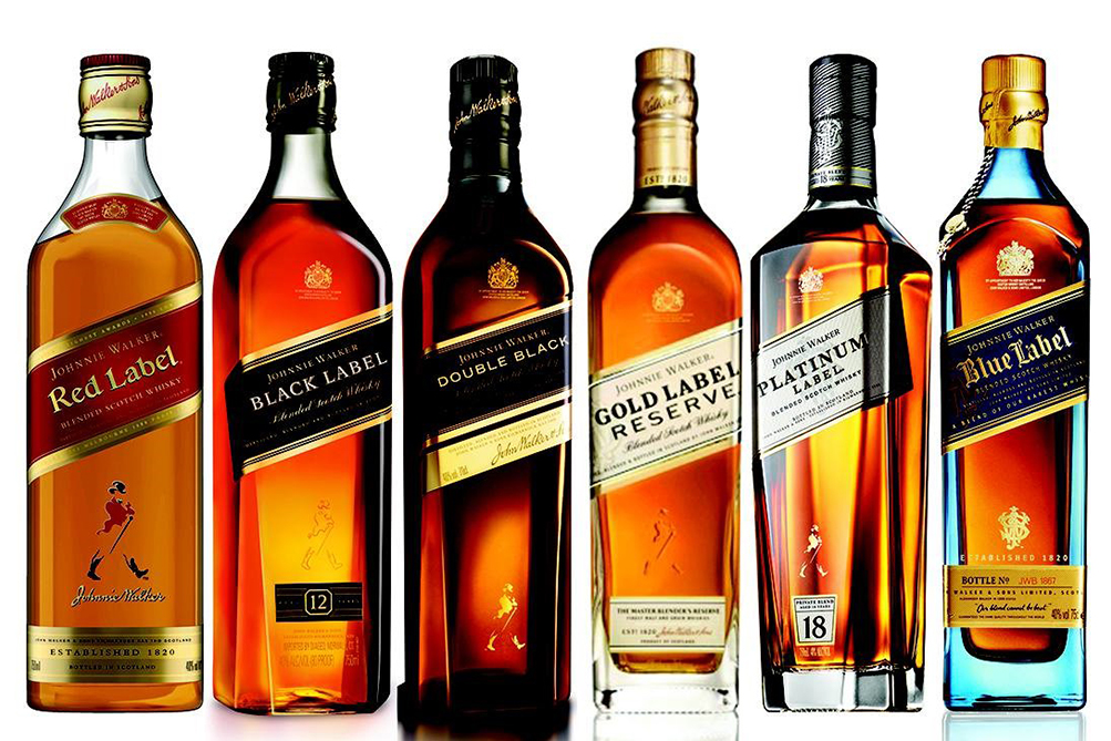 Black Label vs Gold Label Scotch whisky
