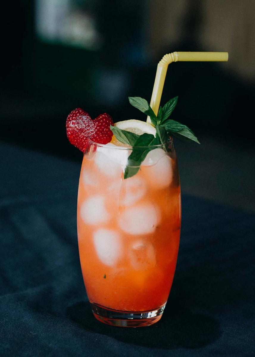 Ginger Peach Whisky Drink