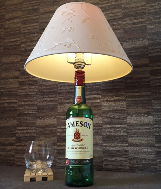 Empty Whiskey Bottle| Lamp
