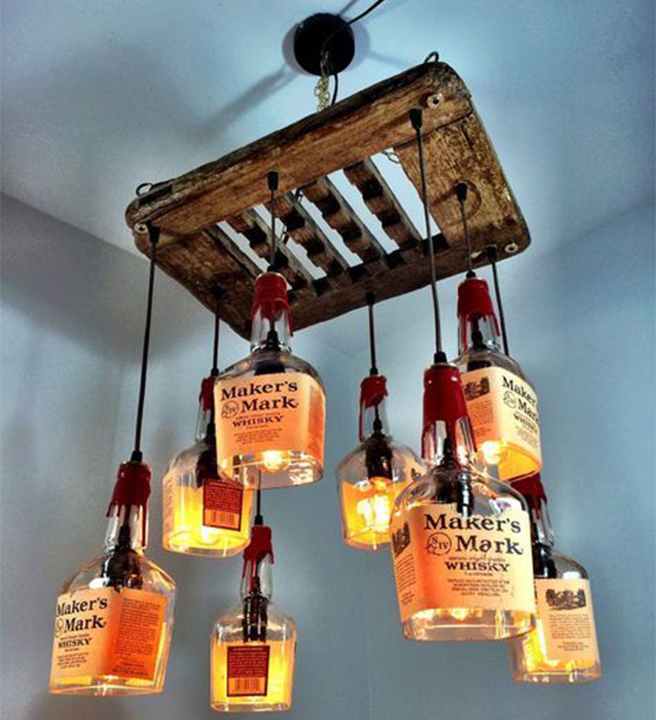 Empty Whiskey Bottle | Chandelier