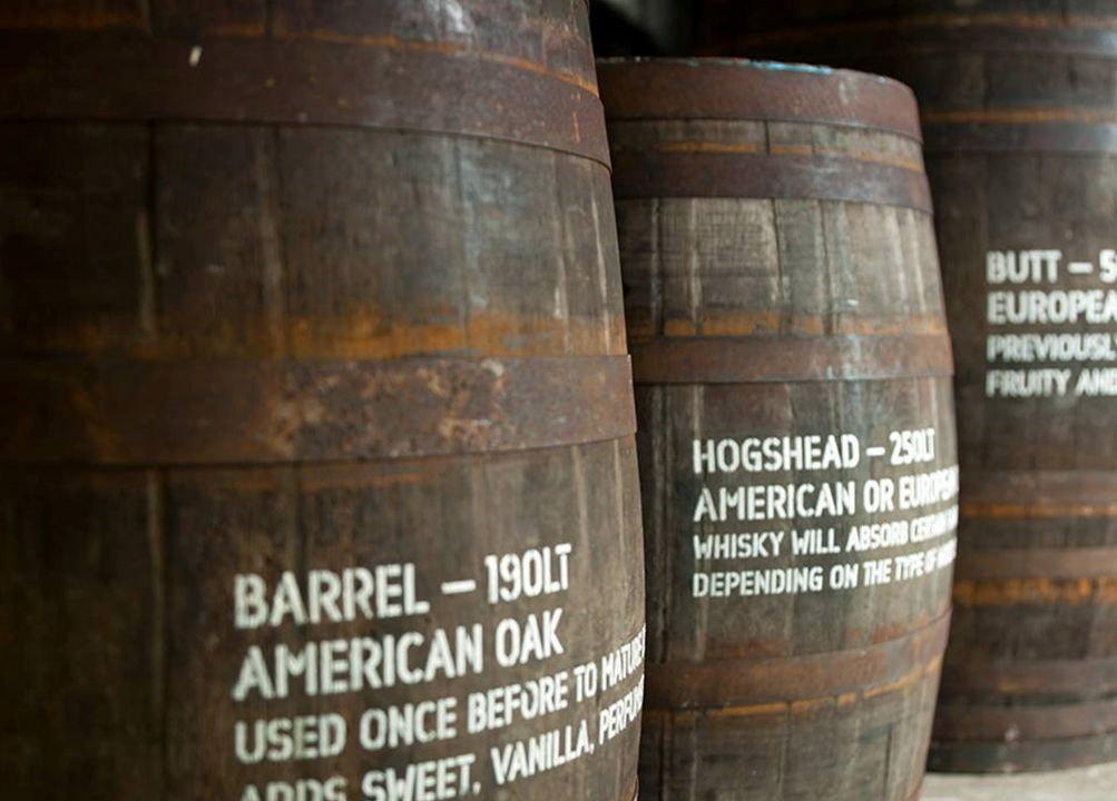 The Glenlivet being prepared in Bourbon barrels