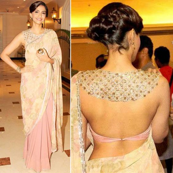 Backless Embroidered Look