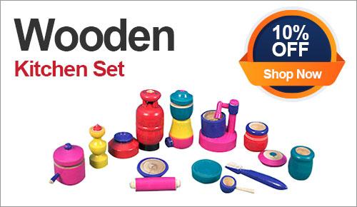 Wooden Kids Kitchen Set