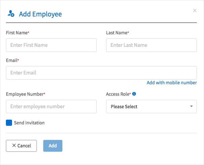 Add employee form