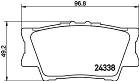 Rear Brake Pads, Toyota OE 04466-02220