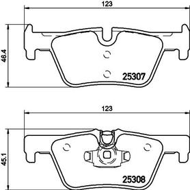 BMW F20/F21/F22/F23/F30 REAR BRAKE PAD SET