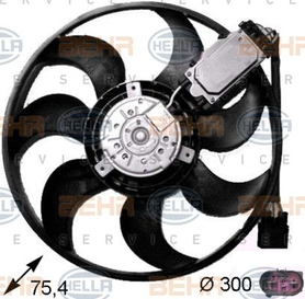 Fan, radiator