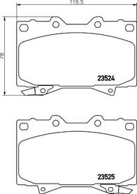 Front Brake pad UJZ100 Toyota LandCruiser / Lexus LX470
