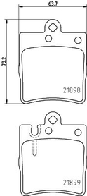 MERCEDES C CLASS/SLK/E CLASS REAR BRAKE PAD SET