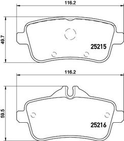 MERCEDES W166 ML350 REAR BRAKE PAD SET