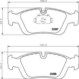 BMW 3 SERIES FRONT BRAKE PAD SET