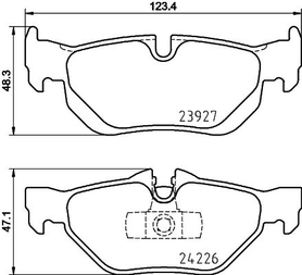 BMW E SERIES REAR BRAKE PAD SET